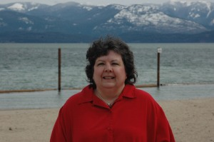 Robin at City Beach in Sandpoint.